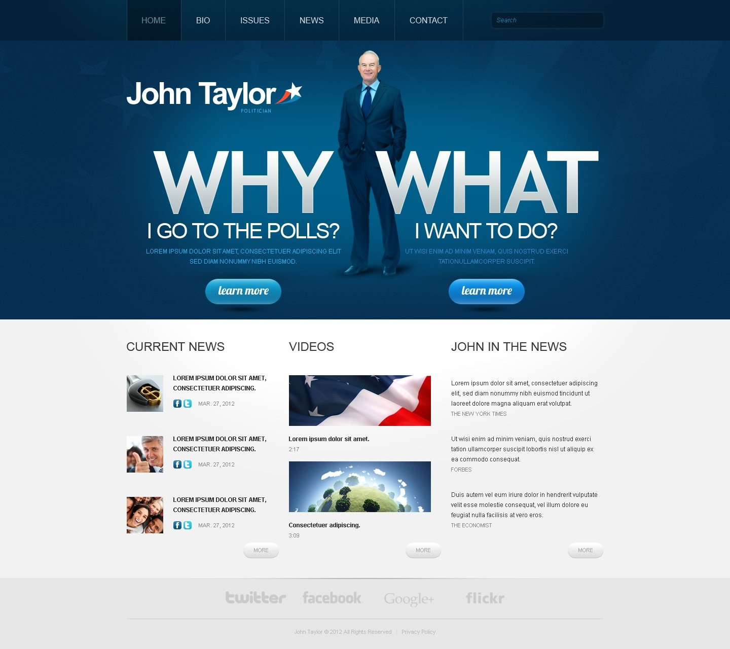 Political Candidate Website Template 38337