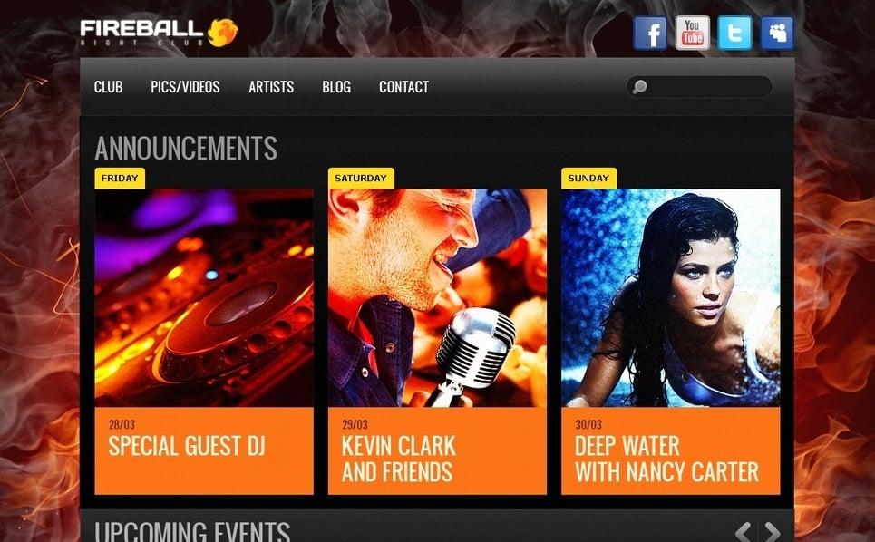Gece Kulübü  Drupal Şablonu New Screenshots BIG