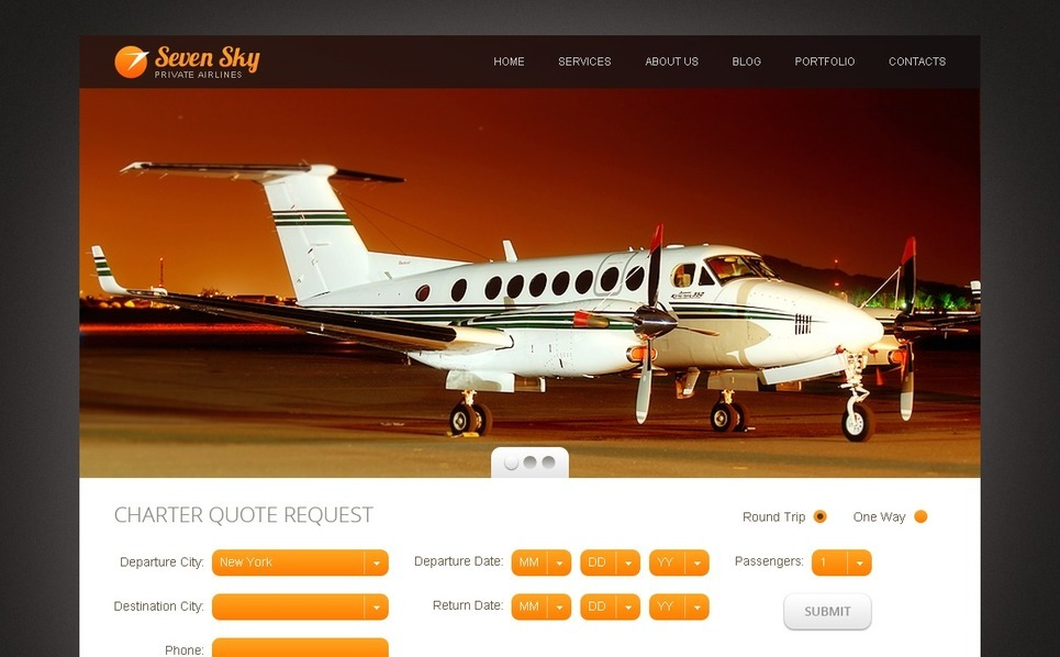Drupal šablona Soukromá aerolinka New Screenshots BIG