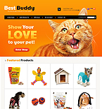 Animals & Pets osCommerce  Template 38421