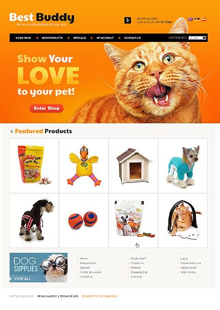osCommerce Template 38421 Main Page Screenshot