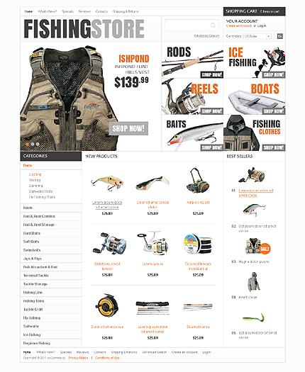 osCommerce Template 38422 Main Page Screenshot