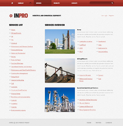 Template 38434 ( Services Page ) ADOBE Photoshop Screenshot