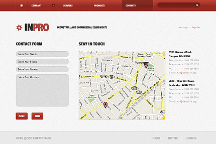 Template 38434 ( Contacts Page ) ADOBE Photoshop Screenshot