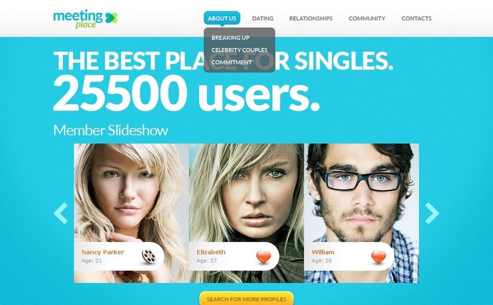 Modello Siti Web  #38435 per Un Sito di Incontri New Screenshots BIG