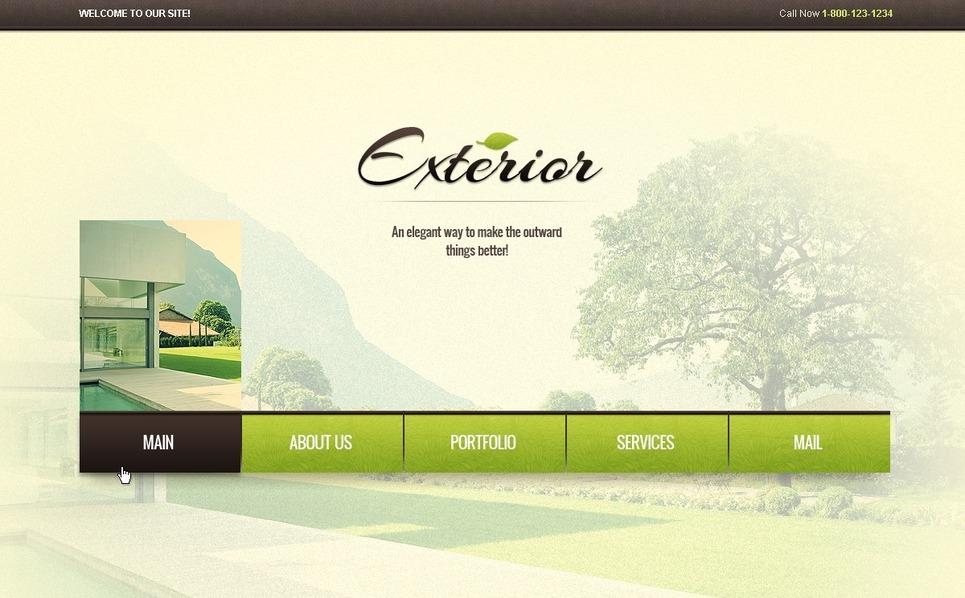 Modello Siti Web  #38438 per Un Sito di Design Esteriore New Screenshots BIG