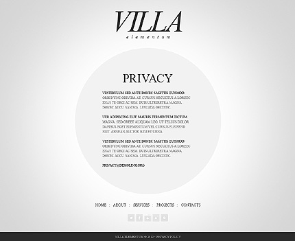 Template 38441 ( Privacy Policy Page ) ADOBE Photoshop Screenshot