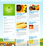 Agriculture Website  Template 38444
