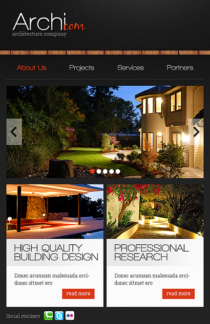 ADOBE Photoshop Template 38465 Home Page Screenshot