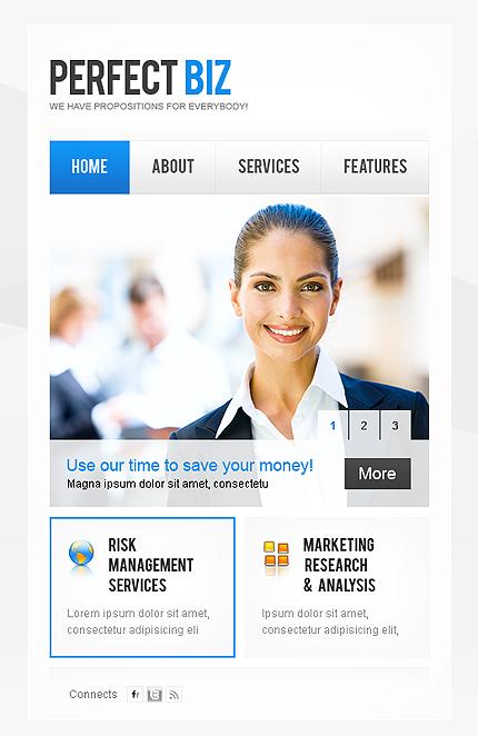 ADOBE Photoshop Template 38466 Home Page Screenshot