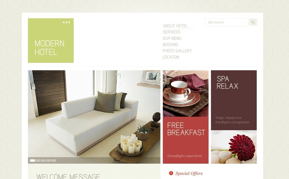 Modello PSD  #38468 per Un Sito di Hotel New Screenshots BIG