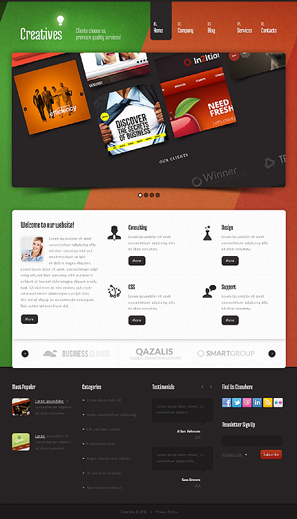 Joomla Theme/Template 38470 Main Page Screenshot