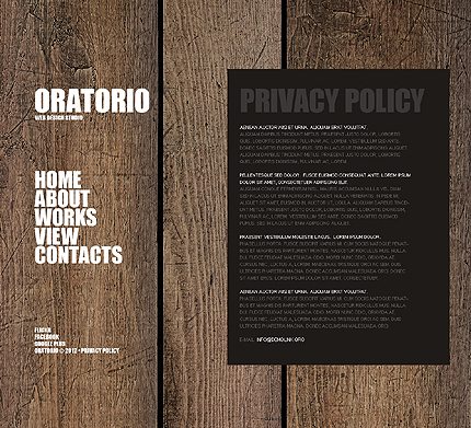 Template 38479 ( Privacy Policy Page ) ADOBE Photoshop Screenshot
