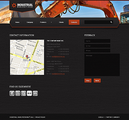 Industrial Manufacturing Website Template 38484 By Wt Website