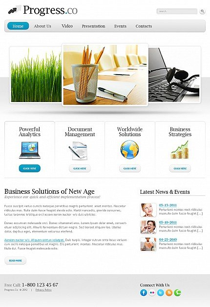 ADOBE Photoshop Template 38494 Home Page Screenshot