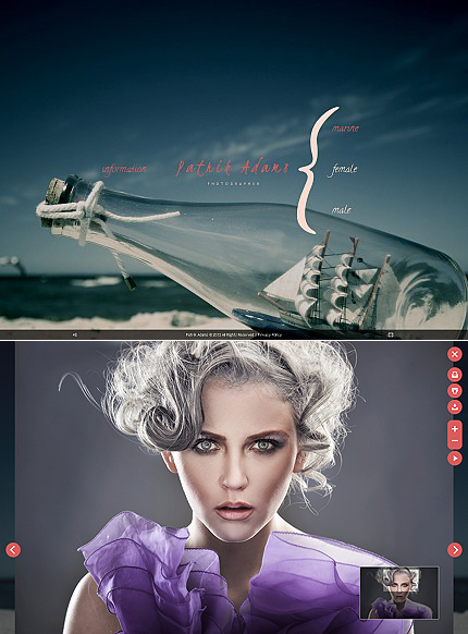 ADOBE Photoshop Template 38496 Home Page Screenshot
