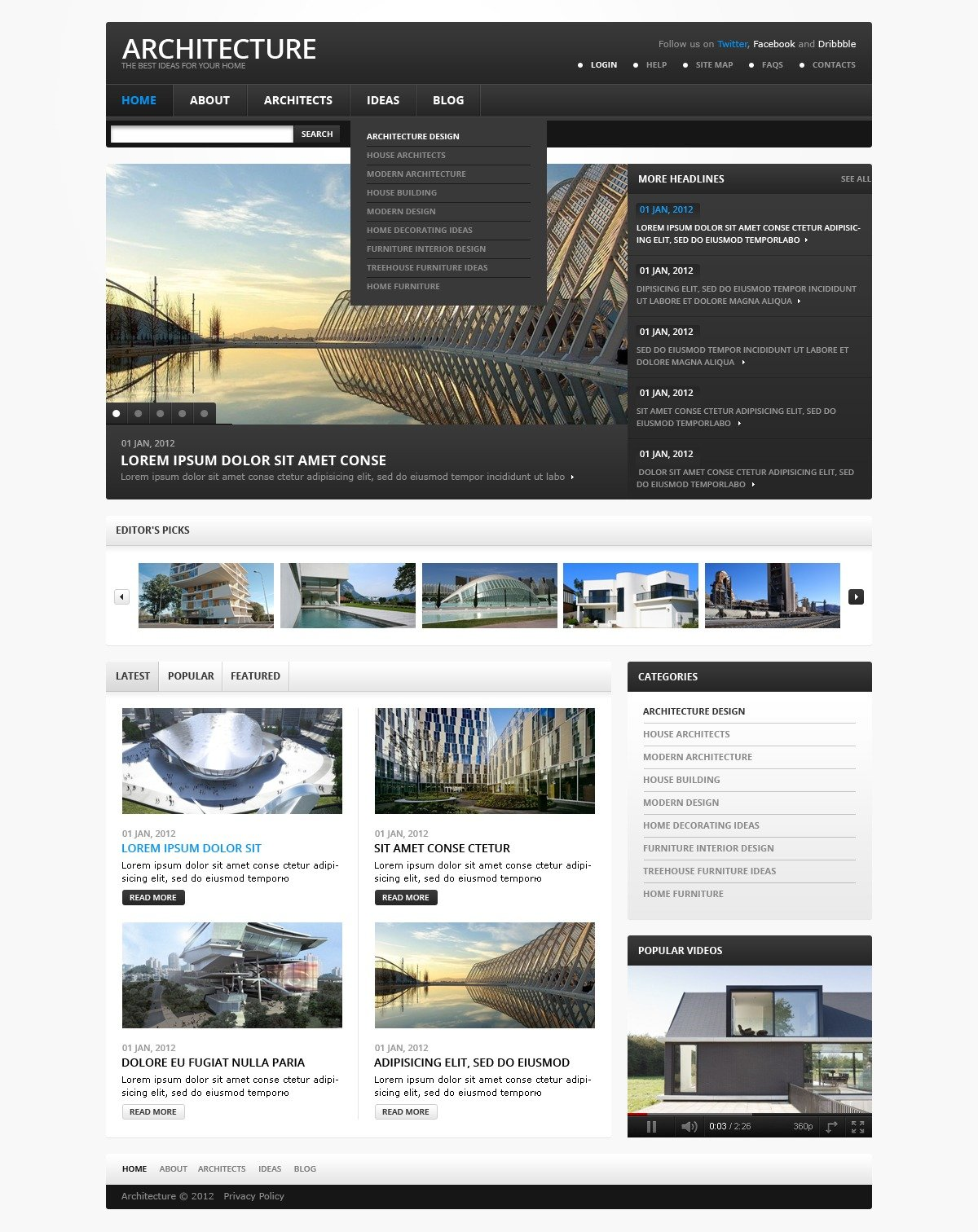 Architecture Design Template architecture joomla template #38497