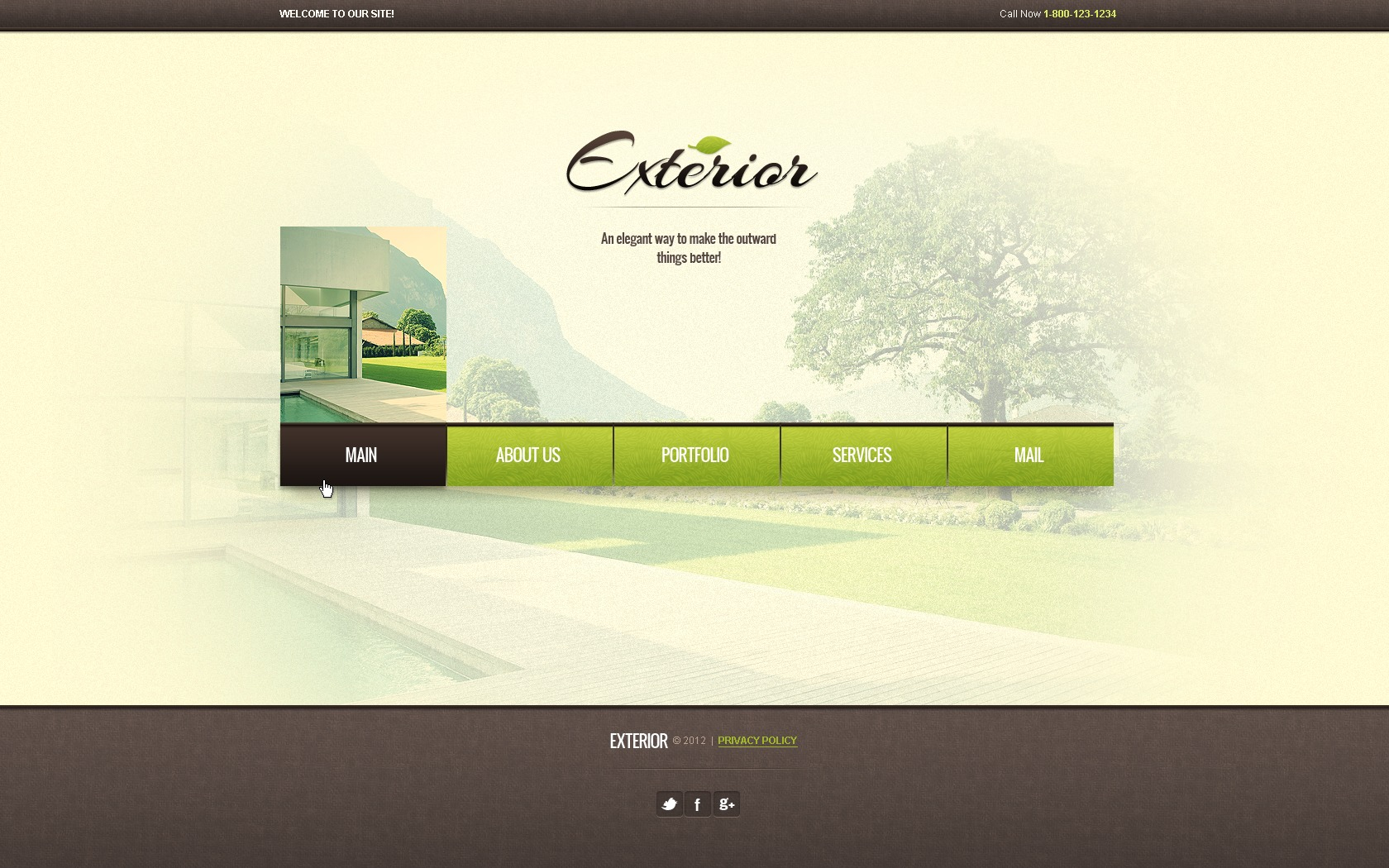 Exterior design website template 38438 for Exterior design website templates