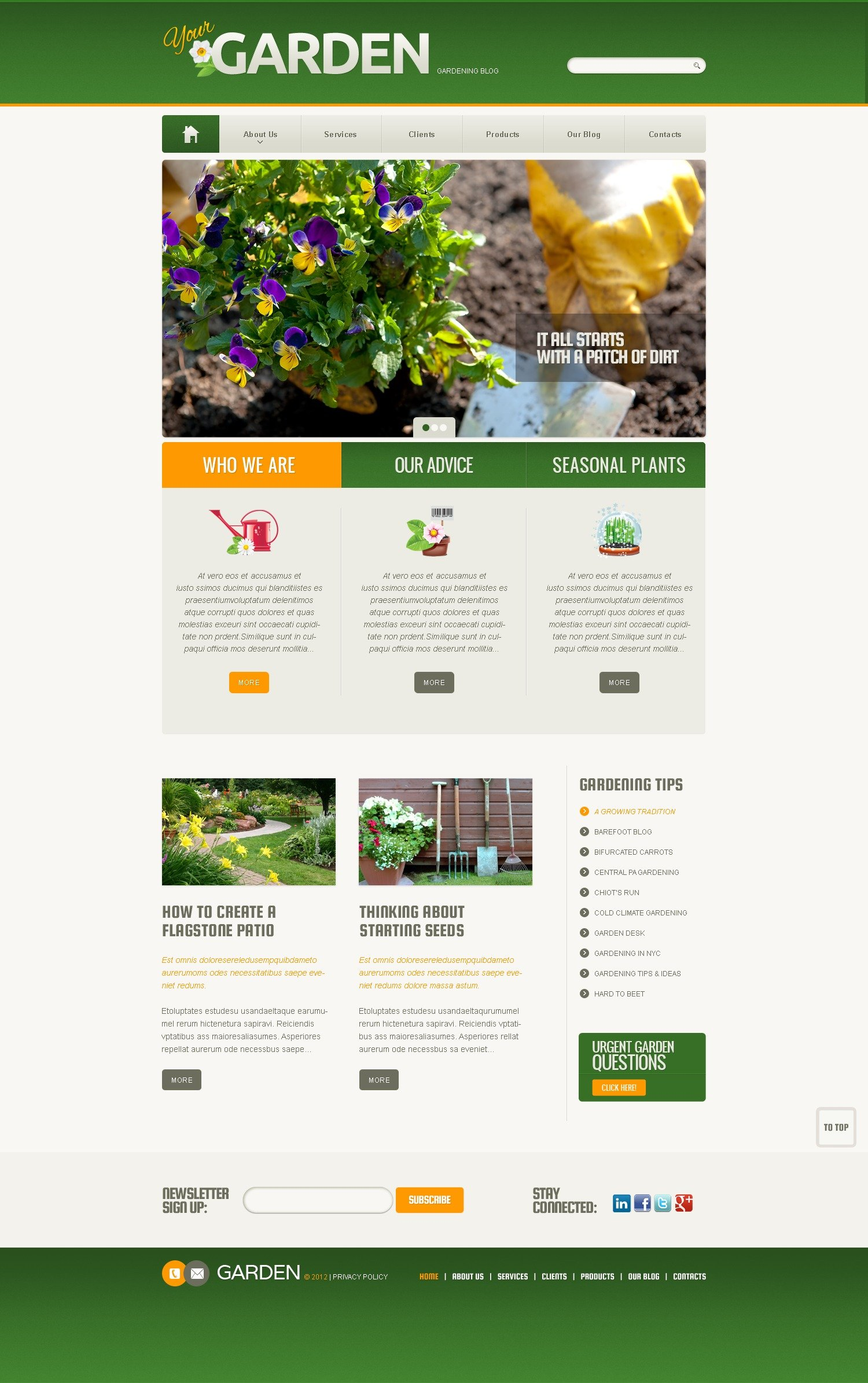 garden design template garden design wordpress theme 38457