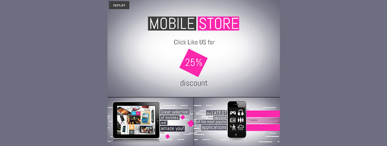 Mobile Store Facebook Template New Screenshots BIG