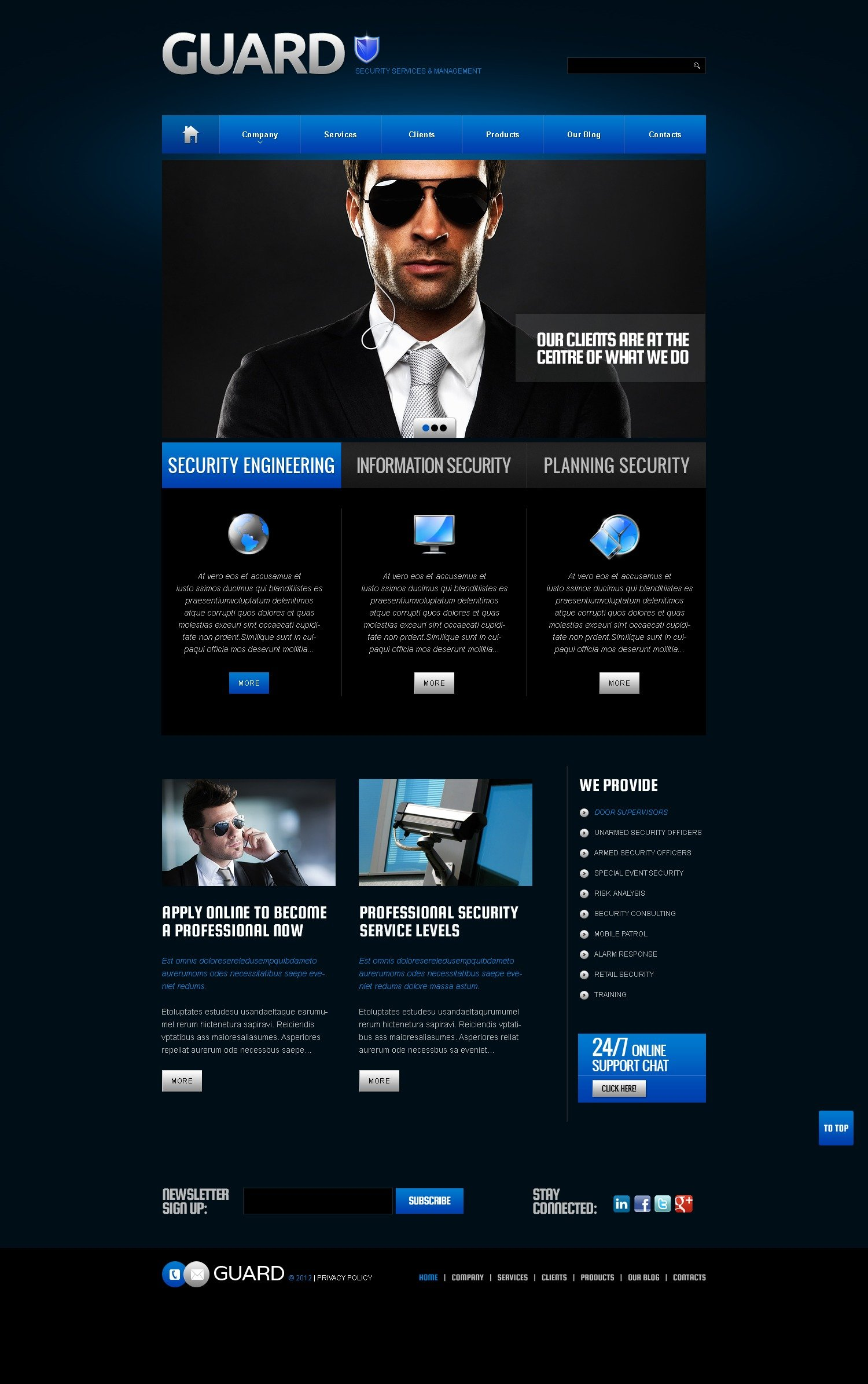 Security WordPress Theme #38459