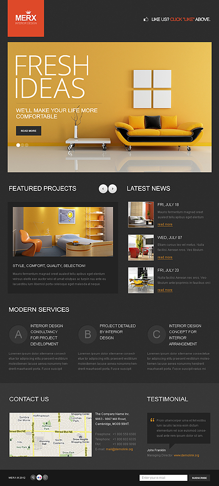 ADOBE Photoshop Template 38500 Home Page Screenshot