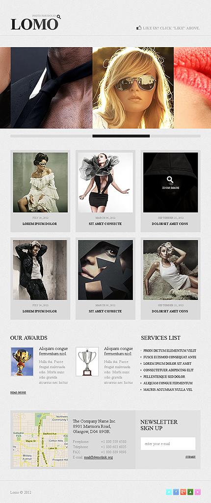 ADOBE Photoshop Template 38502 Home Page Screenshot