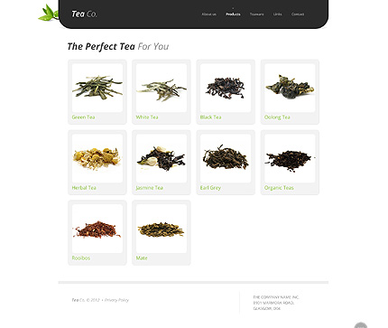 Template 38513 ( Products Page ) ADOBE Photoshop Screenshot