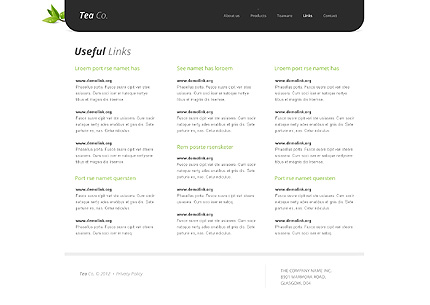 Template 38513 ( Links Page ) ADOBE Photoshop Screenshot