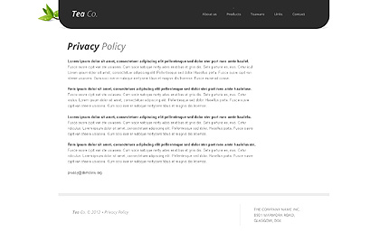 Template 38513 ( Privacy Policy Page ) ADOBE Photoshop Screenshot