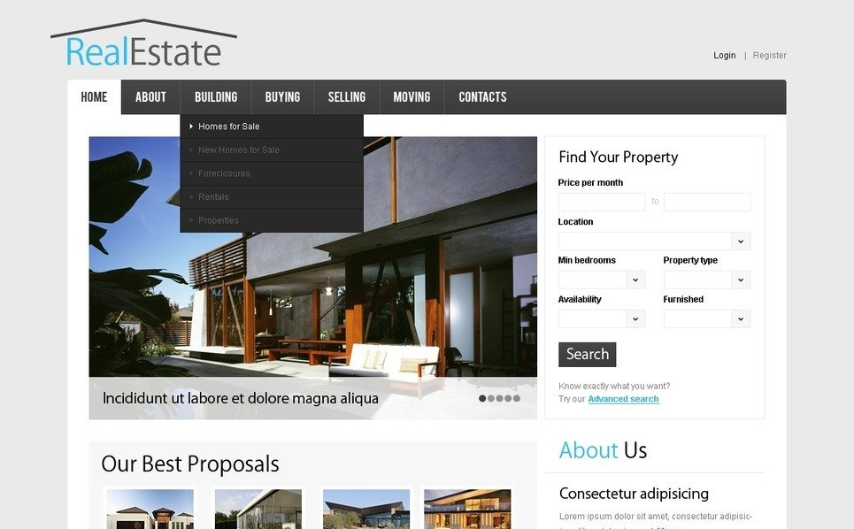 Template Siti Web  #38518 per Un Sito di Agenzia Immobiliare New Screenshots BIG