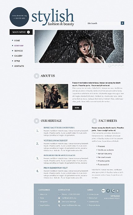 Template 38523 ( Company Page ) ADOBE Photoshop Screenshot