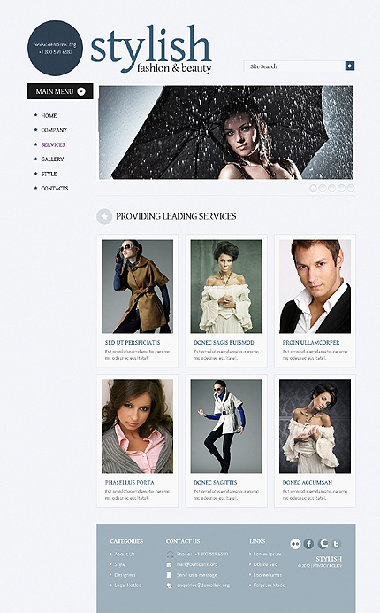 Template 38523 ( Services Page ) ADOBE Photoshop Screenshot