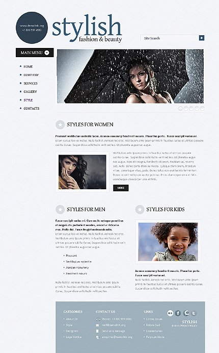 Template 38523 ( Style Page ) ADOBE Photoshop Screenshot
