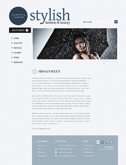 Template 38523 ( Privacy Policy Page ) ADOBE Photoshop Screenshot