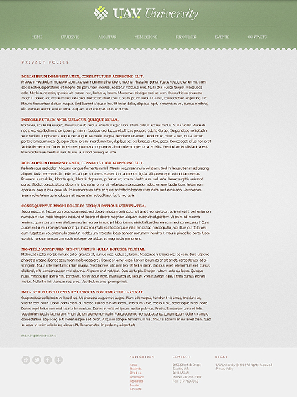 Template 38526 ( Privacy Policy Page ) ADOBE Photoshop Screenshot