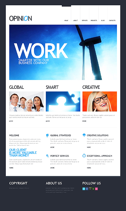 Joomla Theme/Template 38552 Main Page Screenshot