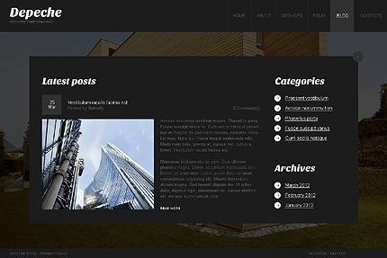 Template 38559 ( Blog Page ) ADOBE Photoshop Screenshot