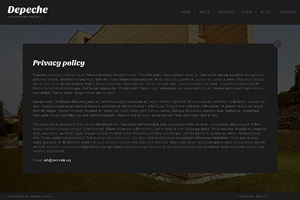 Template 38559 ( Privacy Policy Page ) ADOBE Photoshop Screenshot