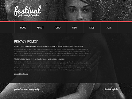Template 38561 ( Privacy Policy Page ) ADOBE Photoshop Screenshot