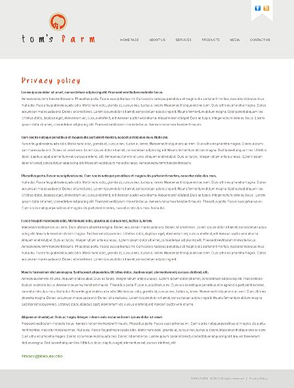 Template 38564 ( Privacy Policy Page ) ADOBE Photoshop Screenshot