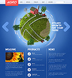 Agriculture Website  Template 38567