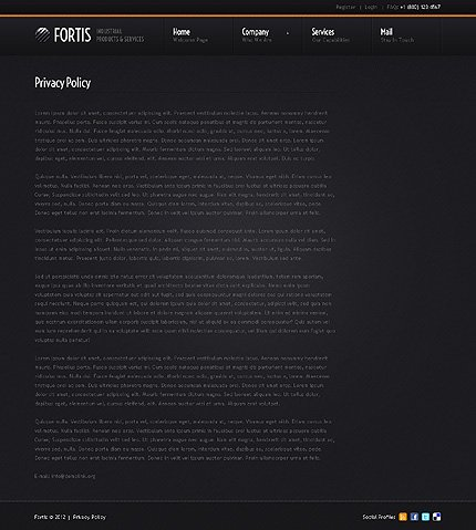 Template 38568 ( Privacy Policy Page ) ADOBE Photoshop Screenshot