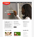 Charity Website  Template 38570