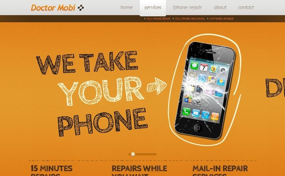 Website Vorlage für Mobile-Gesellschaft  New Screenshots BIG