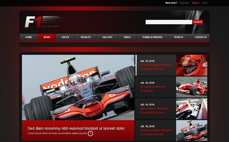 Drupal šablona Automobilové závody New Screenshots BIG