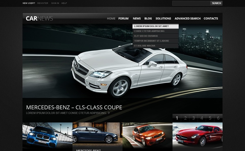 Template Drupal para Sites de Clube de Carros №38577 New Screenshots BIG