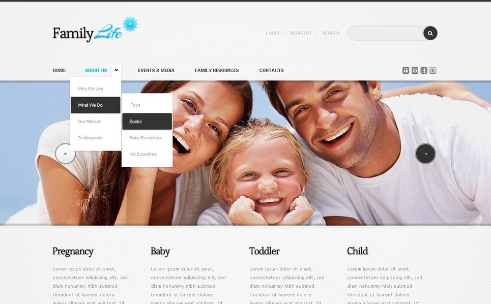 Aile Merkezi  Drupal Şablonu New Screenshots BIG