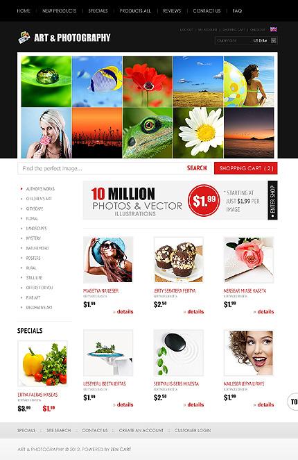 ZenCart Template 38587 Main Page Screenshot