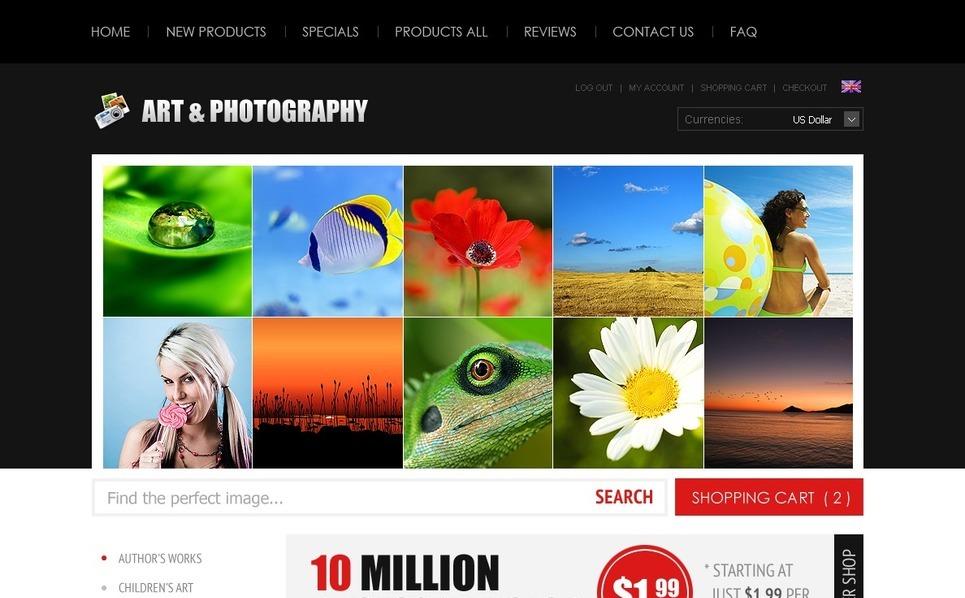 Template ZenCart  #38587 per Un Sito di Negozio d'Arte New Screenshots BIG